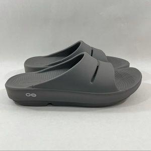 Oofos Comfort Soft Tech Slides Grey Women's 7